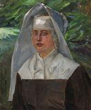 Wilhelm Trübner - Porträt einer Nonne