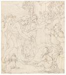 Friedrich Wilhelm Schadow - Die Klage Jakobs um Joseph (Freskoentwurf für die Casa Bartholdy in Rom)