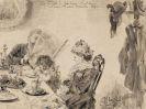 Adolph von Menzel - Frühstücksstunde (Familie im Kaffeehaus)