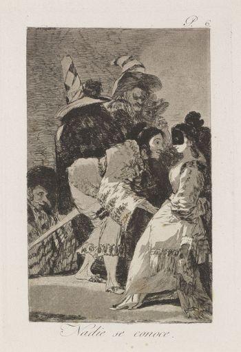 Francisco de Goya - 5 Aquatintaradierungen aus: Los Caprichos