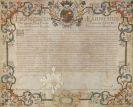 Francesco Farnese - Adelsdiplom auf Pergament mit eigh. Unterschrift