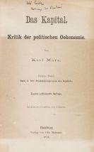 Karl (Heinrich) Marx - Das Kapital. Mit eigh. Widmung