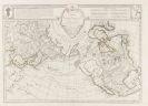 Joseph-Nicolas Delisle - Explication de la carte des nouvelles decouvertes. Text u. Karte, zusammen in 1 Kassette