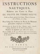 """Cook, James - Le Pilote de Terre-Neuve. Atlas und Textbd. """"Instructions nautiques"""", zus. 2 Bände"""