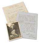 Rainer Maria Rilke - 2 eigenhändige Briefe und 1 Porträtfotokarte