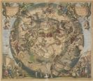 Andreas Cellarius - Haemisphaerium scenographicum australe coeli stellati et terrae
