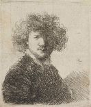 Harmenszoon Rembrandt van Rijn - Selbstbildnis mit lockigem Haar