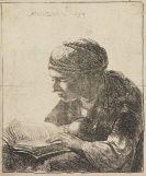 Harmenszoon Rembrandt van Rijn - Lesende Frau