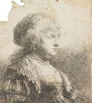 Harmenszoon Rembrandt van Rijn - Saskia mit Perlen im Haar