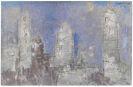 Lyonel Feininger - Manhattan, Dusk