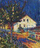 Ernst Ludwig Kirchner - Dorfstraße mit Apfelbäumen