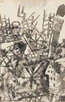 Paul Klee - Der Krieg schreitet über eine Ortschaft