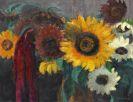 Emil Nolde - Sonnenblumen mit Fuchsschwanz