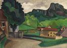 Auguste Francois Julien Herbin - Village (Paysage à Mouthier-Haute-Pierre)