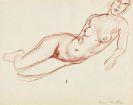 Henri Matisse - Nu allongé vers la droite, s'appuyant sur le bras gauche