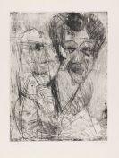 Kirchner, Ernst Ludwig - Selbstbildnis (zeichnend)