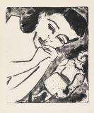 Ernst Ludwig Kirchner - Fränzikopf mit Puppe