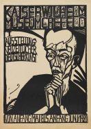 """Erich Heckel - Plakat der """"I. Ausstellung neuzeitlicher deutscher Kunst"""", Krefeld"""