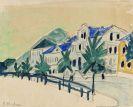 Ernst Ludwig Kirchner - Häuser mit Allee