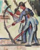 Ernst Ludwig Kirchner - Gleisarbeiter (Straßenarbeiter)