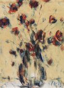 Christian Rohlfs - Feldmohn in blauer Vase