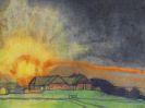 Emil Nolde - Sonnenaufgang über Hof Seebüll