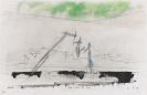 Lyonel Feininger - Water, smoke, and clouds