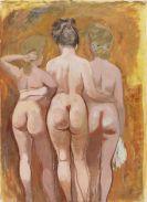 George Grosz - Drei weibliche Rückenakte