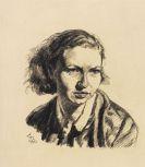 Ludwig Meidner - Porträt einer jungen Frau (Frau von Kitta-Kittel)
