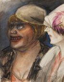Karl Hubbuch - Zwei Damen mit Hut