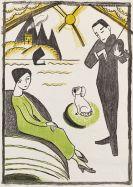 Gabriele Münter - Plakat für die Gabriele Münter-Ausstellung Kopenhagen