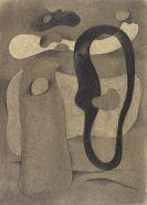 Willi Baumeister - Figur mit dunkler Form