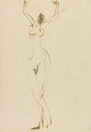 Ernst Ludwig Kirchner - Tanzender weiblicher Akt im Atelier