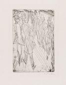 Ernst Ludwig Kirchner - Straßenszene mit Hündchen - Die Vorübergehenden
