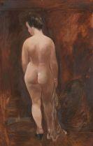 George Grosz - Weiblicher Rückenakt