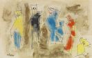 Lyonel Feininger - Untitled (Six Figures)