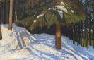 Fritz Overbeck - Tannenwald im Schnee
