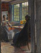 Gotthardt Kuehl - Frauen am Gartenfenster