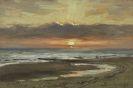 Carl Wuttke - Sonnenuntergang auf Borkum