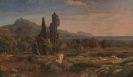 Johann Wilhelm Schirmer - Zypressen im Park der Villa d'Este bei Tivoli