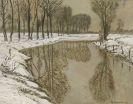 Max Clarenbach - Winter an der Erft