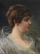 Wilhelm Trübner - Bildnis einer Dame im Profil