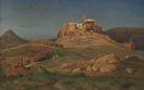 Louis Gurlitt - Die Akropolis im Abendlicht