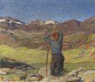 Erler, Erich - Juni-Morgen (Ziegenhirte im Engadin)