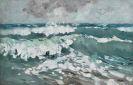 Karl Hagemeister - Bewegte See mit gischtenden Wellenkämmen