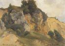 Edmund Kanoldt - Felsterrain bei Hohenstaufen