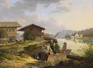 Carl Friedrich Heinzmann - Blick auf den Walchensee