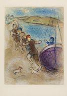 Marc Chagall - Die Jünglinge aus Methymna  (aus Daphnis + Chloe)