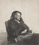 Harmenszoon Rembrandt van Rijn - Rembrandts Mutter mit schwarzem Schleier