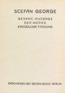 George, Stefan - Werke, 15 Bände